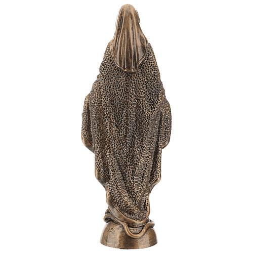 Madonna Miracolosa 45 cm bronzata polvere di marmo PER ESTERNO 5