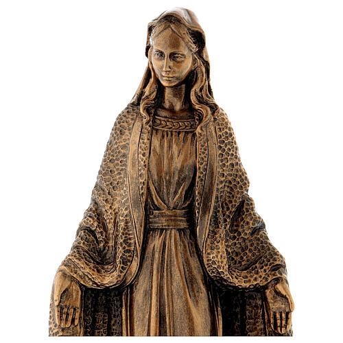 Madonna Miracolosa 45 cm bronzata polvere di marmo PER ESTERNO 2