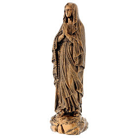 Miraculous Medal statue in bronzed marble powder composite 50 cm, OUTDOOR s3