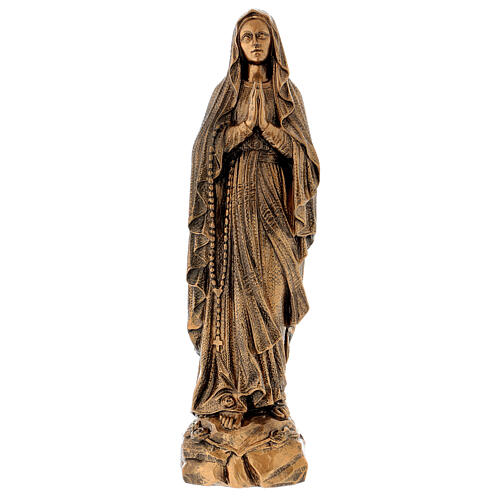 Miraculous Medal statue in bronzed marble powder composite 50 cm, OUTDOOR 1