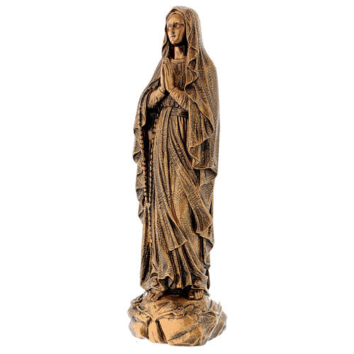 Miraculous Medal statue in bronzed marble powder composite 50 cm, OUTDOOR 3