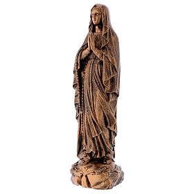 Estatua Virgen Lourdes 50 cm bronceada polvo de mármol PARA EXTERIOR s3