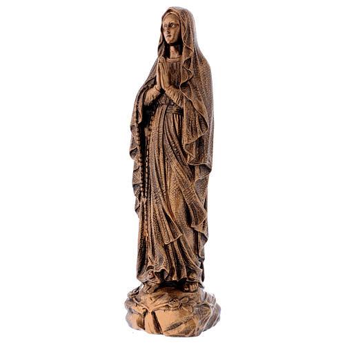 Estatua Virgen Lourdes 50 cm bronceada polvo de mármol PARA EXTERIOR 3