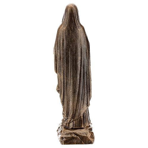 Estatua Virgen Lourdes 50 cm bronceada polvo de mármol PARA EXTERIOR 5