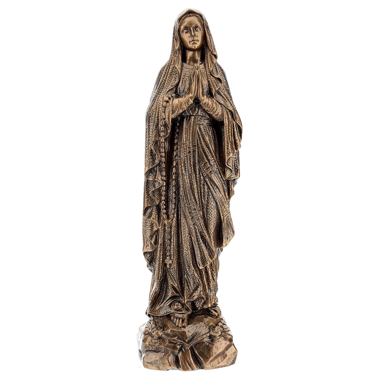 Statue Notre-Dame de Lourdes 50 cm effet bronze poudre marbre Carrare POUR EXTÉRIEUR 4