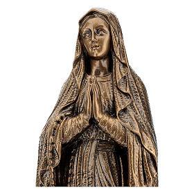 Statua Madonna Lourdes 50 cm bronzata polvere di marmo PER ESTERNO s2