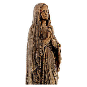 Statua Madonna Lourdes 50 cm bronzata polvere di marmo PER ESTERNO s4