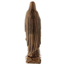 Statua Madonna Lourdes 50 cm bronzata polvere di marmo PER ESTERNO s6