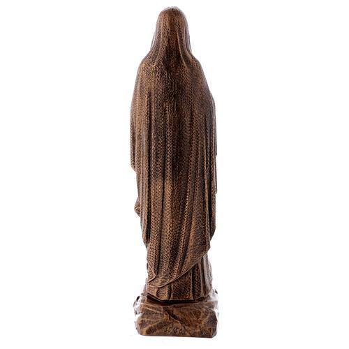 Statua Madonna Lourdes 50 cm bronzata polvere di marmo PER ESTERNO 5