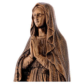Our Lady of Lourdes statue, 50 cm bronzed reconstituted Carrara marble FOR OUTDOORS s2