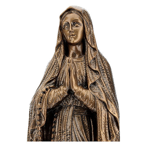 Our Lady of Lourdes statue, 50 cm bronzed reconstituted Carrara marble FOR OUTDOORS 2