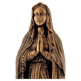 Imagem Nossa Senhora de Lourdes pó de mármore bronzeado 40 cm PARA EXTERIOR