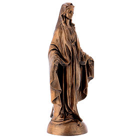 Miraculous Medal statue in bronzed marble powder composite 40 cm, OUTDOOR s4
