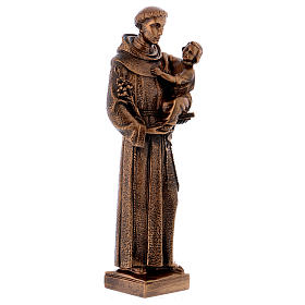 St. Anthony statue in bronzed marble powder composite 40 cm, OUTDOOR s4