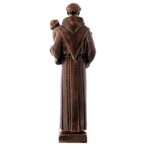 St. Anthony statue in bronzed marble powder composite 40 cm, OUTDOOR 6