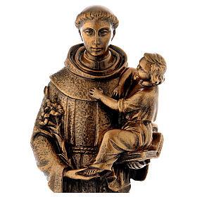 San Antonio de Padua 40 cm bronceado mármol sintético PARA EXTERIOR