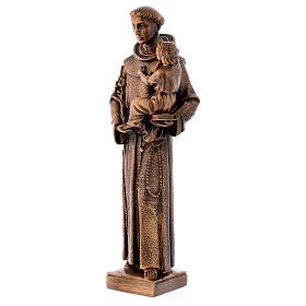 Sant'Antonio da Padova 40 cm bronzato marmo sintetico PER ESTERNO s3