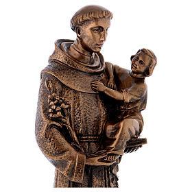 Sant'Antonio da Padova 40 cm bronzato marmo sintetico PER ESTERNO s5