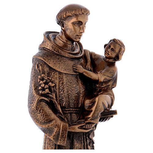 Sant'Antonio da Padova 40 cm bronzato marmo sintetico PER ESTERNO 5