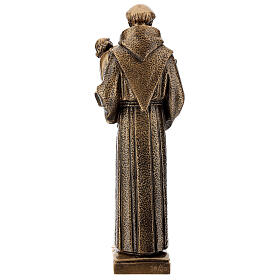 St Anthony of Padua statue, 40 cm bronzed synthetic marble FOR OUTDOORS s5