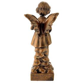 Gettafiori angioletto 30 cm bronzato marmo sintetico PER ESTERNO s5