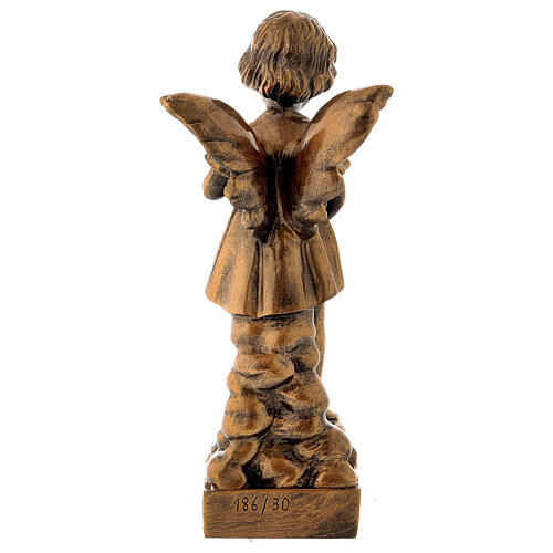 Gettafiori angioletto 30 cm bronzato marmo sintetico PER ESTERNO 5