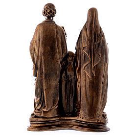 Sainte Famille 40 cm effet bronze poudre marbre Carrare POUR EXTÉRIEUR s7