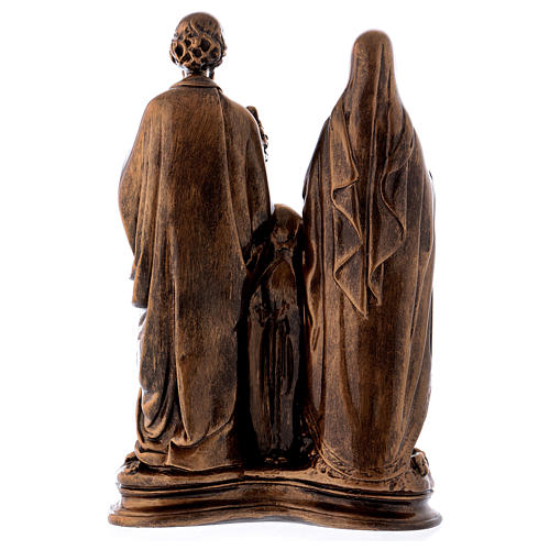 Sainte Famille 40 cm effet bronze poudre marbre Carrare POUR EXTÉRIEUR 7