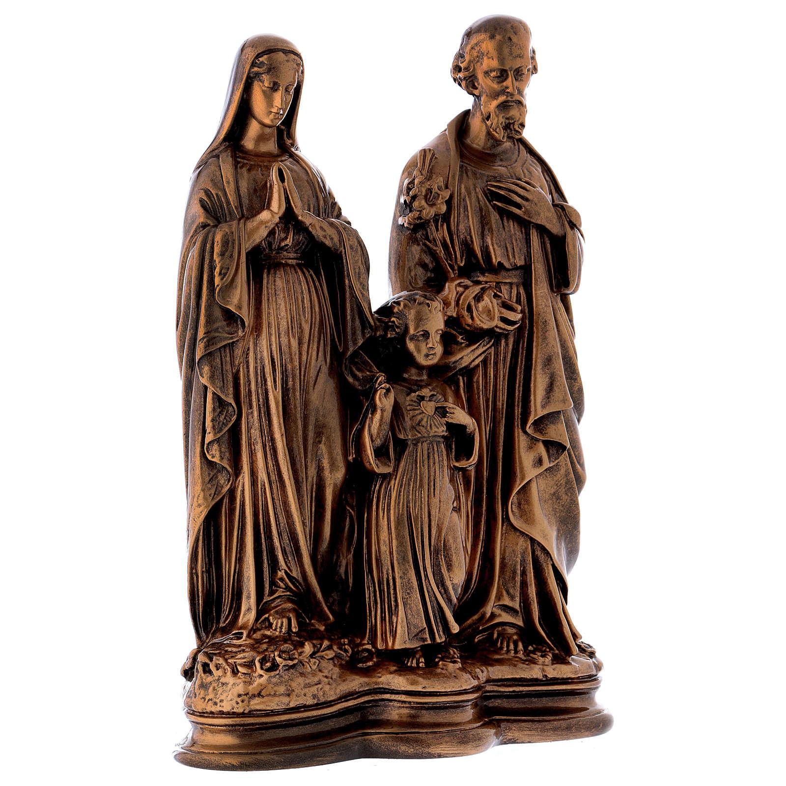 Sacra Famiglia 40 cm bronzata polvere di marmo PER ESTERNO 4