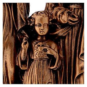 Sacra Famiglia 40 cm bronzata polvere di marmo PER ESTERNO s2