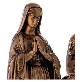 Sacra Famiglia 40 cm bronzata polvere di marmo PER ESTERNO s4