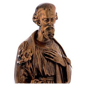 Sacra Famiglia 40 cm bronzata polvere di marmo PER ESTERNO s6