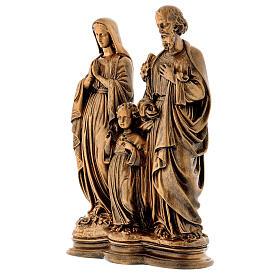Sacra Famiglia 40 cm bronzata polvere di marmo PER ESTERNO s3