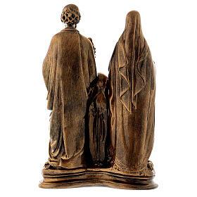 Sacra Famiglia 40 cm bronzata polvere di marmo PER ESTERNO s7