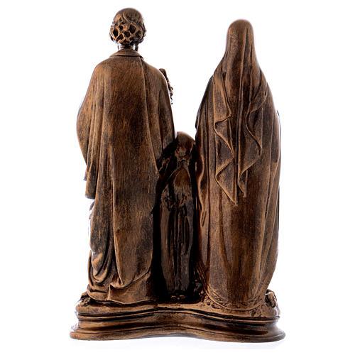 Sacra Famiglia 40 cm bronzata polvere di marmo PER ESTERNO 7
