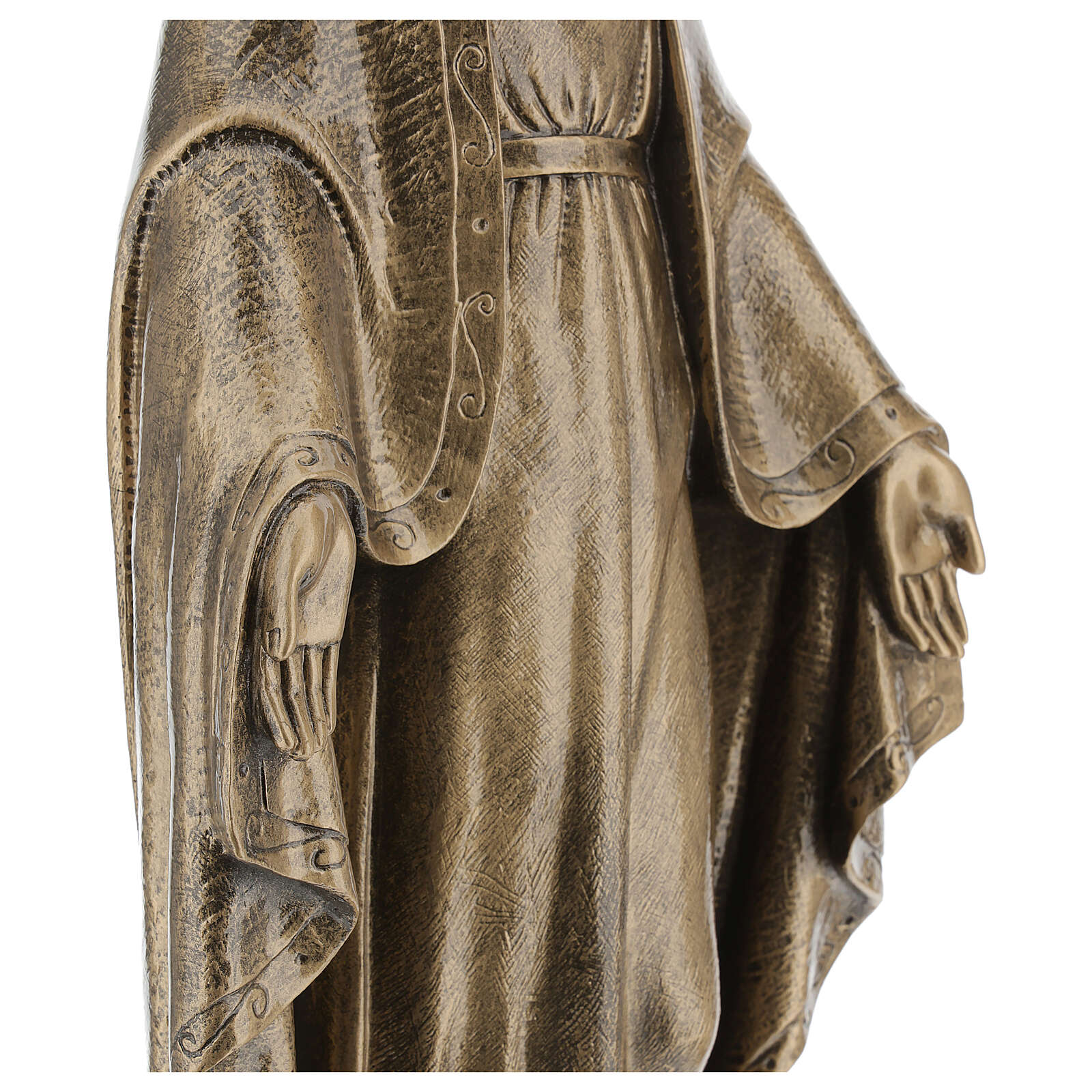 Miraculous Medal statue in bronzed marble powder composite 62 cm, OUTDOOR 4
