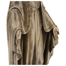 Miraculous Medal statue in bronzed marble powder composite 62 cm, OUTDOOR s4