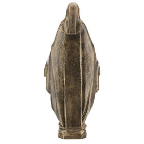 Miraculous Medal statue in bronzed marble powder composite 62 cm, OUTDOOR s7