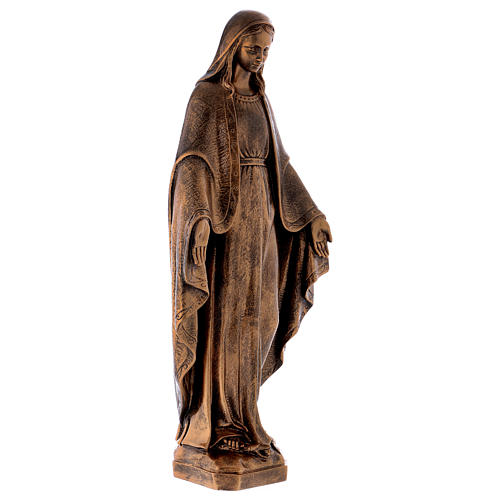 Miraculous Medal statue in bronzed marble powder composite 62 cm, OUTDOOR 5
