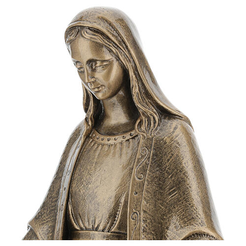 Miraculous Medal statue in bronzed marble powder composite 62 cm, OUTDOOR 2
