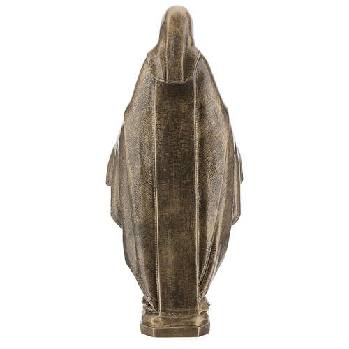Miraculous Medal statue in bronzed marble powder composite 62 cm, OUTDOOR 7