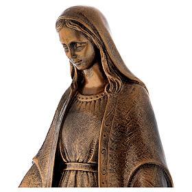 Estatua Virgen Milagrosa 62 cm bronceada polvo de mármol PARA EXTERIOR s4