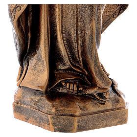 Estatua Virgen Milagrosa 62 cm bronceada polvo de mármol PARA EXTERIOR s6