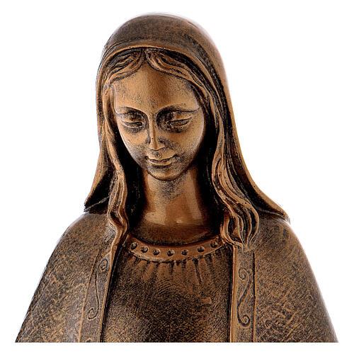 Estatua Virgen Milagrosa 62 cm bronceada polvo de mármol PARA EXTERIOR 2