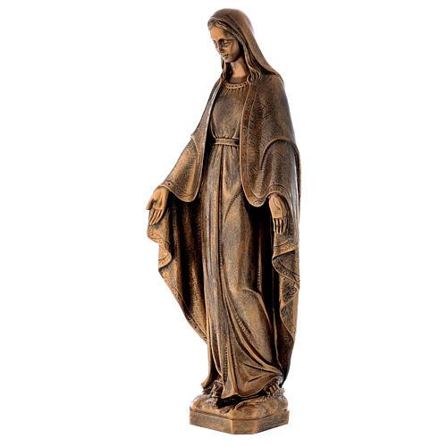 Estatua Virgen Milagrosa 62 cm bronceada polvo de mármol PARA EXTERIOR 3