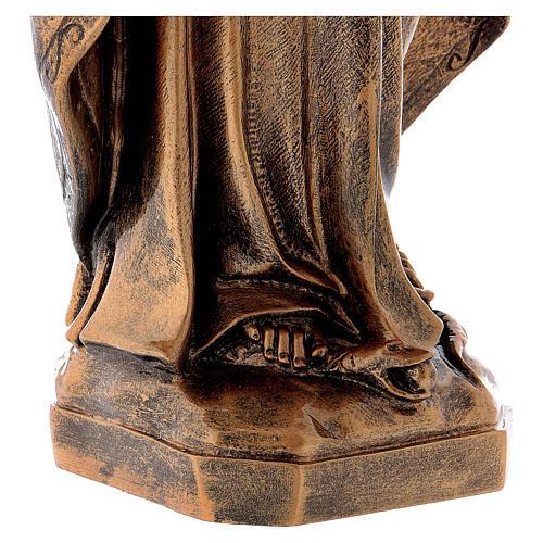 Estatua Virgen Milagrosa 62 cm bronceada polvo de mármol PARA EXTERIOR 6