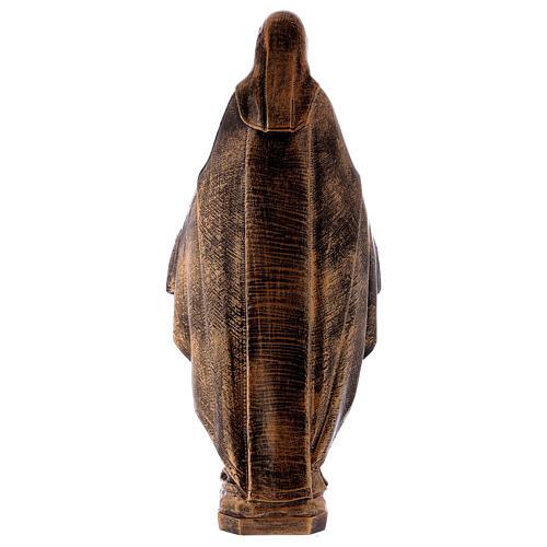 Estatua Virgen Milagrosa 62 cm bronceada polvo de mármol PARA EXTERIOR 7
