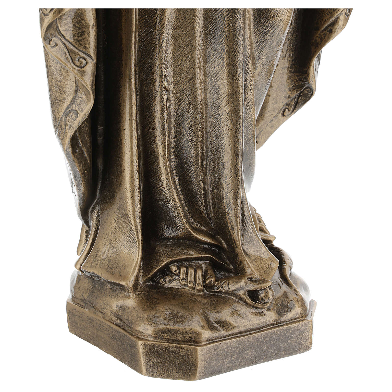 Statue of Lady of Miracles, 64 cm bronzed reconstituted marble FOR OUTDOORS 4