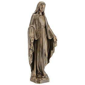 Statue of Lady of Miracles, 64 cm bronzed reconstituted marble FOR OUTDOORS s5