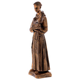 St. Anthony statue in bronzed marble powder composite 60 cm, OUTDOOR s3